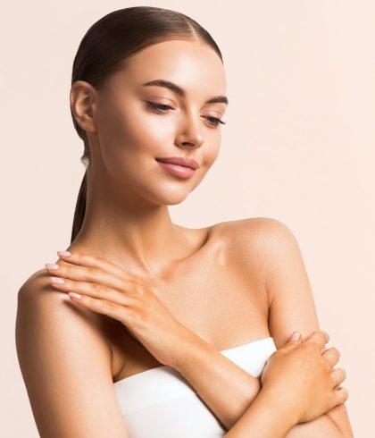 Feamale Cosmetic Clean Skin Beauty portrait